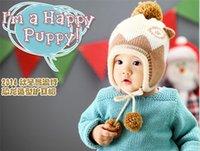 2014 nuevos de la llegada de los niños coloridos casquillos del invierno lindo bebé de punto sombreros al por mayor con el envío libre