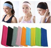 Wholesale Hot Sale Fashion Cotton Elastic Sports Headbands Wide Headband