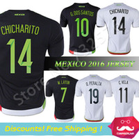 mexico - Thai Quality Mexico Jersey Camisa Mexico G DOS SANTOS CHICHARITO Soccer Jersey Mexico football shirts
