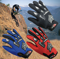 Wholesale Lowest Price Bicycle Bike Full Finger Cycling Gloves Pad Mesh w Gel