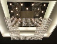 Cheap new design luxury crystal lighting large modern crystal chandelier hotel lobby chandelier lighting L150*W150*h100CM free shipping