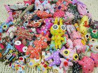 alien key chain - Lovely Animal Button Doll Key Chain Phone Chain Cloth Puppet Mini Alien Pendant Many Style Handmade