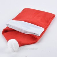 Wholesale New Arrival Christmas decoration Hat circle Chair Back Covers Red Santa Claus Hat drop shipping BMHM703 S5