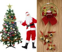 bell tree sound - New Arrivals Santa Claus Bell Christmas Tree Decorations Promotion Sale Cheap Small Party Supply Cartoon Bell cm Styles With Sound MC03
