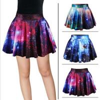 european style fashion for women - Galaxy Sky Printed Sparking Women s Summer Dress Bandhnu European Style Fashion Bubble Skirts For Big Girls Skirt Ladies Hot Clothing J2806