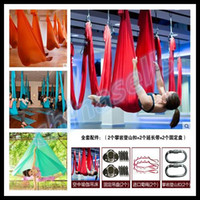 Wholesale 6M aerial pilates yoga hammock yoga Inversion swing trapeze hammock anti gravity belt Tool stretch rope fitness equipment Accessories