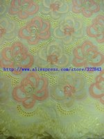 african clothing - 5yard African Fabric Yards Cotton Big African Swiss Voile Lace Fabric For Clothes Materials B F