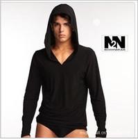 Wholesale Brand New Modal Men Yoga Sleep Tops sexy long men sleepwear Pajamas full sleeve hoodies bathing suits sleepwear bathrobe coat