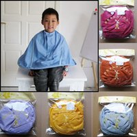 barber cape kids - Quality Convenient Children Kids Hair Styling Cutting Cape Bib Salon Gown Barber Hairstylist New Home