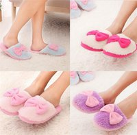 Wholesale New Arrivals Women Lady Non slip Slippers Home Anti slip Cotton Shoes Coral Velvet TPR Soft Winter Indoor EI3