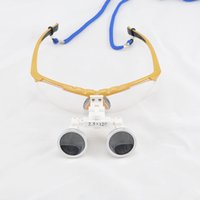 Wholesale Hot Selling X320mm Yellow color Dental Medical Binocular Loupes Optical Glass Loupe LED Head Light Lamp Low Price