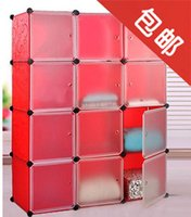 Wholesale Fashion diy home magicaf fashion embossed storage bookcase baby wardrobe black and white