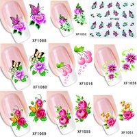 nail tattoo sticker - 60Sheets XF1061 XF1120 DIY Sexy Nail Art Water Transfer Sticker Foil Polish Decals Temporary Tattoos Watermark NAIL DRESSING