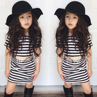 american girl clothes - Girl Dress Child Clothes Kids Clothing Girls Outfits Autumn Short Sleeve T Shirt Pencil Skirts Children Set Kids Suit Outfits C18315