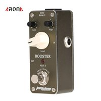 guitar accessories - Mini Booster Electric Guitar Effect Pedal Aluminum Alloy Housing True Bypass Deisgn Guitar Pedal Guitar Parts Accessories I725