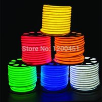 Wholesale 80LEDs m v LED Flexible neon strip rope light yellow color with m Length per Roll