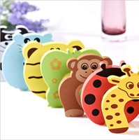 Wholesale Baby Safety Door Stopper Baby Protecting Product New Cartoon Animals Model Holder Lock Safety Finger Protect MC