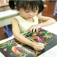 Wholesale 10 Sheets16K Colorful Magic Scratch Art Painting Paper Children Painting Paper Free Drawing Pen High Quality NQ678476