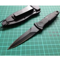 Wholesale Cold Steel Tactical Hunting Folding Knife Outdoor Rescue Camping Pocket Knives Blade Sanding Black Handle Knife VB062 P