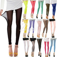 Wholesale Sexy Sheer Mesh Pants - Women's Sexy 15 Candy Colors Mesh Sheer Stretchy Leggings Pants Elastic Summer Pants Wholesale Slim Fit Wholesale BD0095