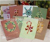 Wholesale 8pcs vintage Postcards Christmas Card with envelope