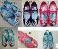 Wholesale 2014 New hot sale Frozen Kids shoes Elsa princess shoes girls casual dress shoes