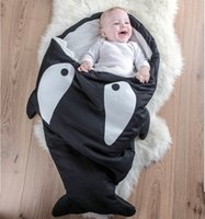 baby corduroy soft - Retail Cartoon shark sleeping bags newborn baby carriage winter bedding warm pretty Sleepsacks cotton soft Sleepsacks