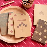 Wholesale new style korean Stationery New vintage style paint pattern Notebook Kraft Paper Notepad Premiums