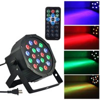 Wholesale New RGB Par Light LEDs Stage Light DMX512 Self propelled Voice activated Control Channels DISCO Party Light