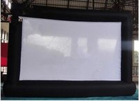 Wholesale New High Quality Advertising Giant Outdoor Cinema Inflatable Screen with blower