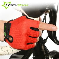 mens sports gloves - RockBros Non Slip Breathable Cycling Gloves Summer Sports Wear Women s Mens Bike Bicycle Cycling Cycle Gel Pad Short Half Finger Gloves