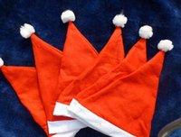 china christmas - Christmas Hat Pleuche fabrics hats Santa Caps MERRY CHRISTMAS SANTA CLAUS HAT CAP Party Hat made in china