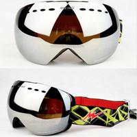 ski goggles glasses - rimless ski goggles big spherical snowboard glasses colors sport snow skiing eyewear snowmobile day night vision googles