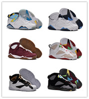 cheap sneakers - Cheap Basketball Shoes Retro VII Bordeaux Graphite Sneakers Mens Sports Shoes Discount Basketball Boots Athletics Sneakers BootS