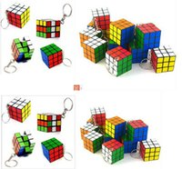 puzzle ring - 120 Creative toys Keychain Rubik s cube x3x3cm Puzzle Magic Game Toy Key rings Xmas gifts