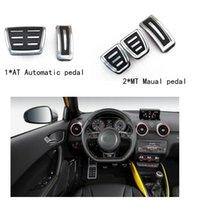 audi brake pads - Metal anti skid car pedal gas Brake pad foot rest cover accelerator for Audi A1 S1
