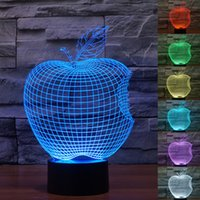 apple bulbs - Lovely Night Lights Christmas Gifts Kids Toys D LED Lights Cubes Bulbs Colorful change Halloween Lights A Bitten Apple Lamps