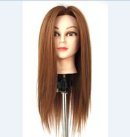 training manikins - Head Mannequin With Hair Mannequin Head With Free Table Tripod Dummy Manikin Training Head With Hair
