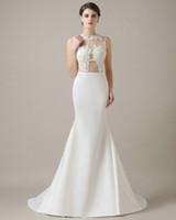 best online bridal gowns - 2016 Cheap Mermaid Wedding Dress Applique Trajes Para Casamento Long Plus Size Bridal Gown Best Sale Online
