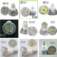 Wholesale High power CREE Led Lamp W W W Dimmable GU10 MR16 E27 E14 GU5 B22 Led spot Light Spotlight led bulb downlight warm pure cool white