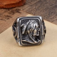 Wholesale Factoryprice new arrival hight quality the indain chief stainless steel vintage biker stainless steel ring