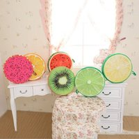 best child seats - 37cm Round Cute Fruit Shaped Plush Pillow Memory Foam Kids Seat Desk Cushion Best Gift For Children Birthday