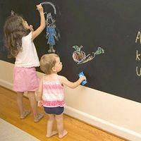 blackboard - DHL Fantastic cmx200cm Chalkboard Wall Sticker Creative Home Decor Adesivo De Parede Removable Vinyl Blackboard D003