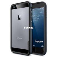 Wholesale ys02 New fashion SGP Spigen Hybrid Bumper for iPhone PC TPU Protective Phone bags