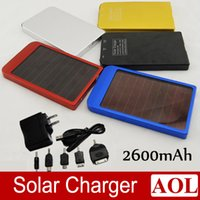 Wholesale Solar Battery Chargers mAh Portable USB Solar Energy Panel Power Bank For Mobile Phone PAD Tablet MP3 MP4 With Retails Box