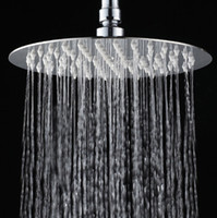 Wholesale 10 quot Stainless Steel Shower Head Wall Mounted Ultra thin Rain Shower Heads CP
