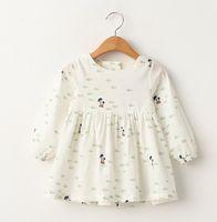 Wholesale 2016 Summer Girls Fish Tree Pattern Dress Children Clothing Dresses Kids Clothes bow Dress D7072