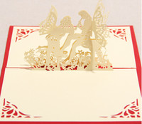 pop up birthday card - Butterfly angel D Pop UP Gift Greeting D Blessing Cards Handmade paper silhoue Creative Happy Birthday Cards christmas cards