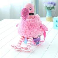 pink flamingos - Pink Flamingo Backpack Kids Plush Toy For Girl Birthday Christmas Gift High Quality