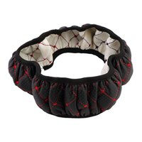 Wholesale Car Leather Embroidery Elastic Skidproof Steering Wheel Cover Case With Needle Hole Brand New